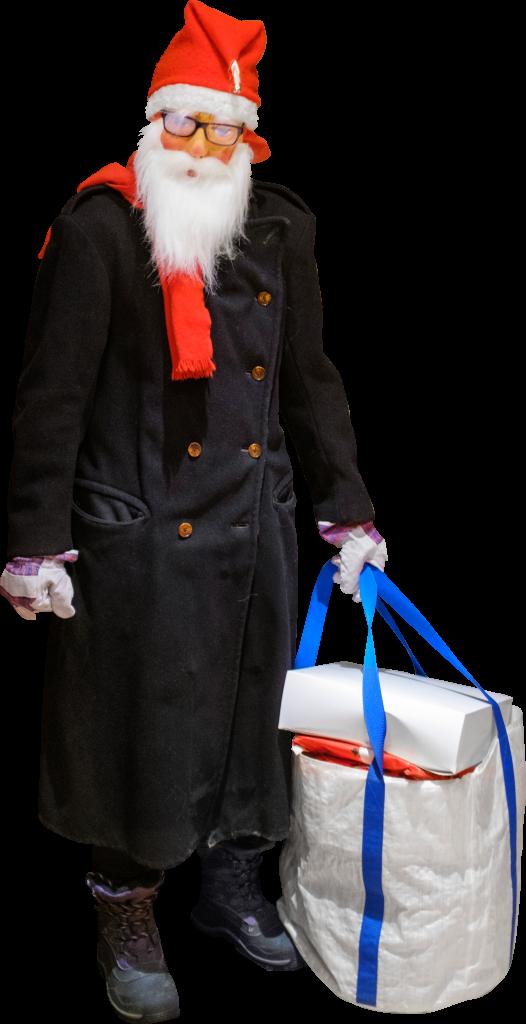Skalgubbbar #341 E as improvised Jultomten aka Santa Claus